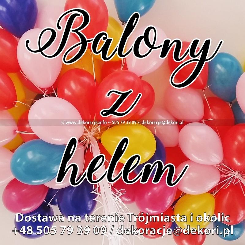 balony z helem Gdynia Wiczlino
